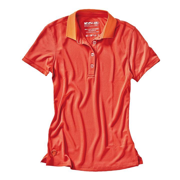 Damen-Poloshirt Cafe Base Rea Polo rot Gr.34