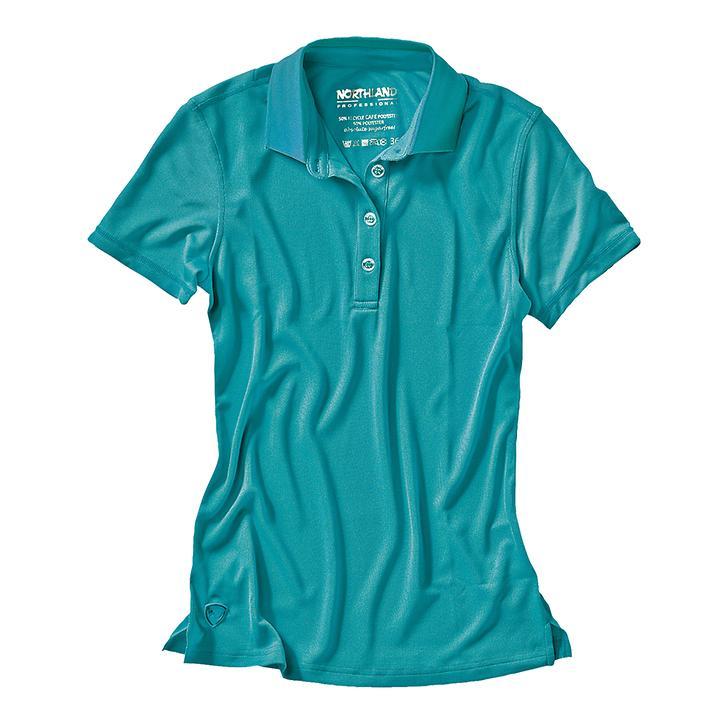 Damen-Poloshirt Cafe Base Rea Polo türkis Gr.36