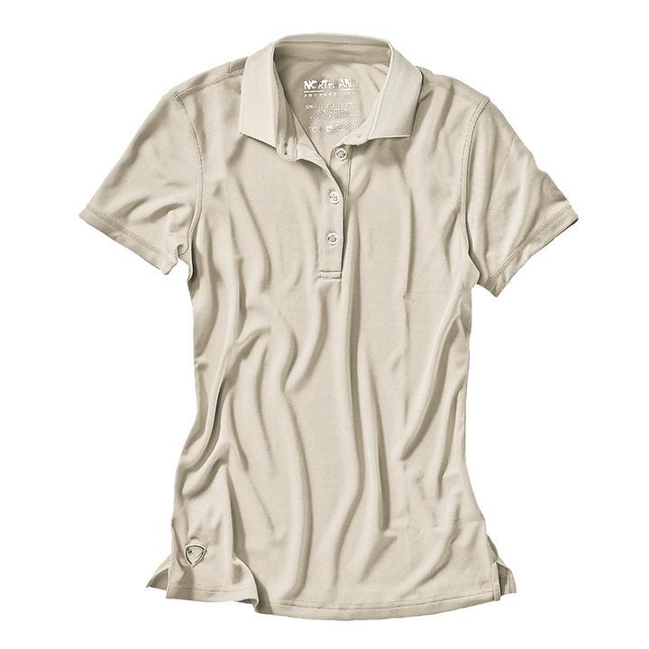 Damen-Poloshirt Cafe Base Rea Polo sand Gr.40