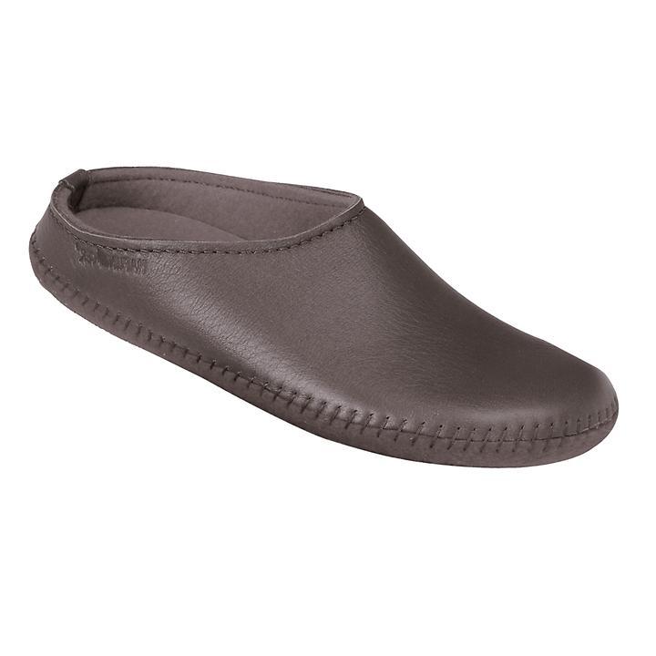 Da-Elchleder-Pantoffel taupe | Schuhe > Hausschuhe > Pantoffeln | Haflinger
