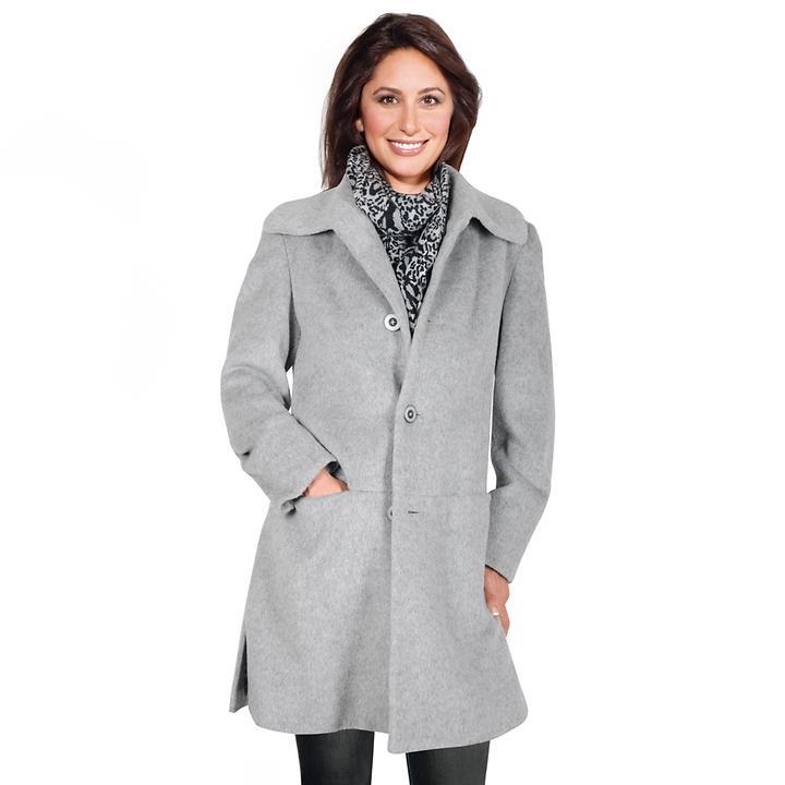 Damen-Mantel Ina silber/grau Gr. 48