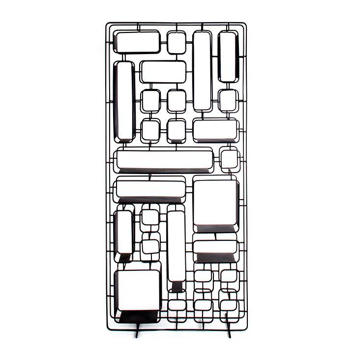 Design-Regal Projekt H, aus Metall, schwarz