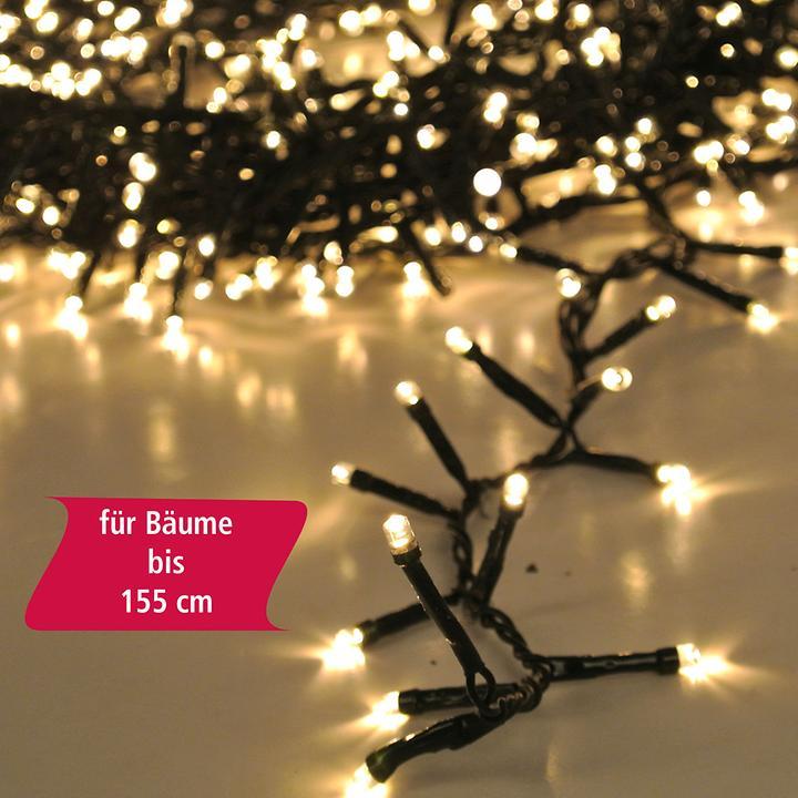 LED-Lichterkette Tree Gr. S, 370 LED´s, für Bäume bis 155 cm, 740 cm + 300 cm Zuleitung
