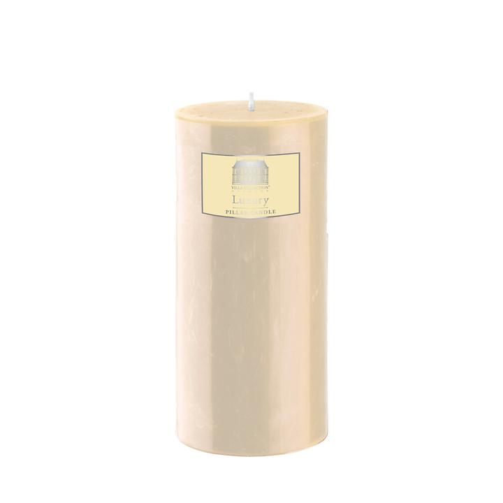 Stumpenkerze creme, Höhe 15 cm
