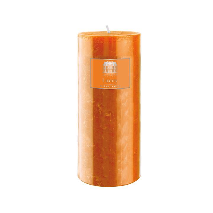 Stumpenkerze orange, Höhe 15cm