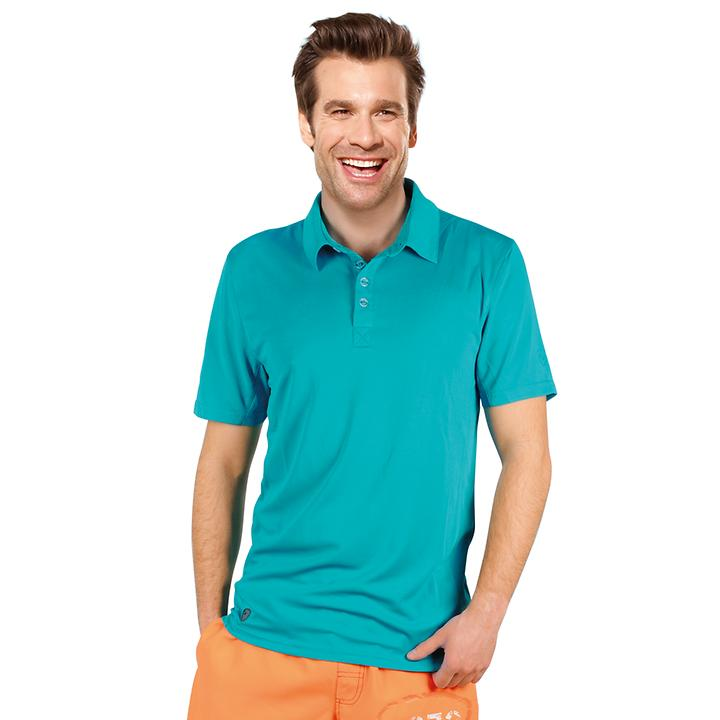 Herren-Poloshirt Active Dry Paco türkis