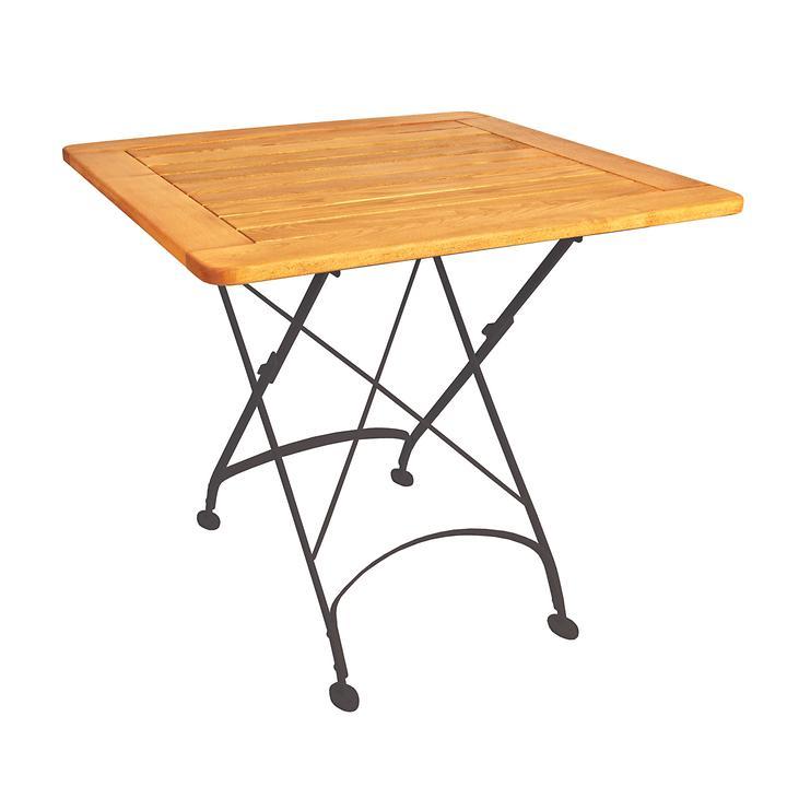 Tisch London schwarz, quadratisch