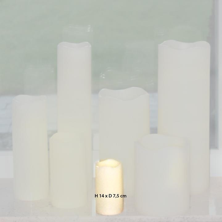 LED-Kerze  H 14 x D 7,5 cm inkl. Fernbedienung