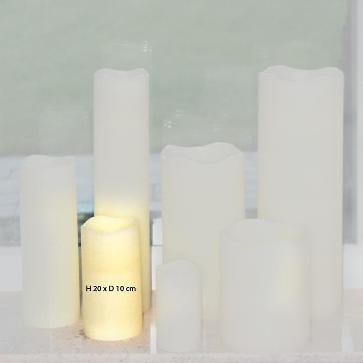 LED-Kerze H 20 x D 10 cm inkl. Fernbedienung