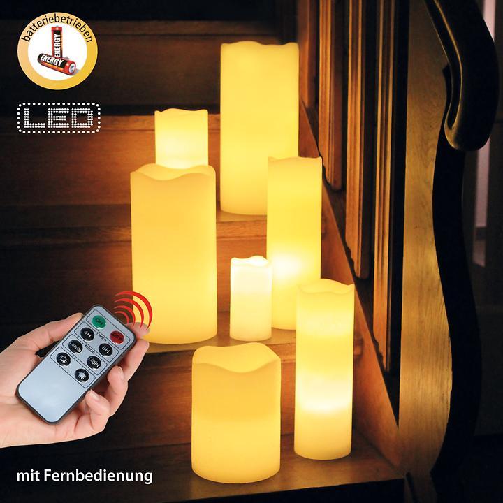 LED-Kerzen inkl. Fernbedienung