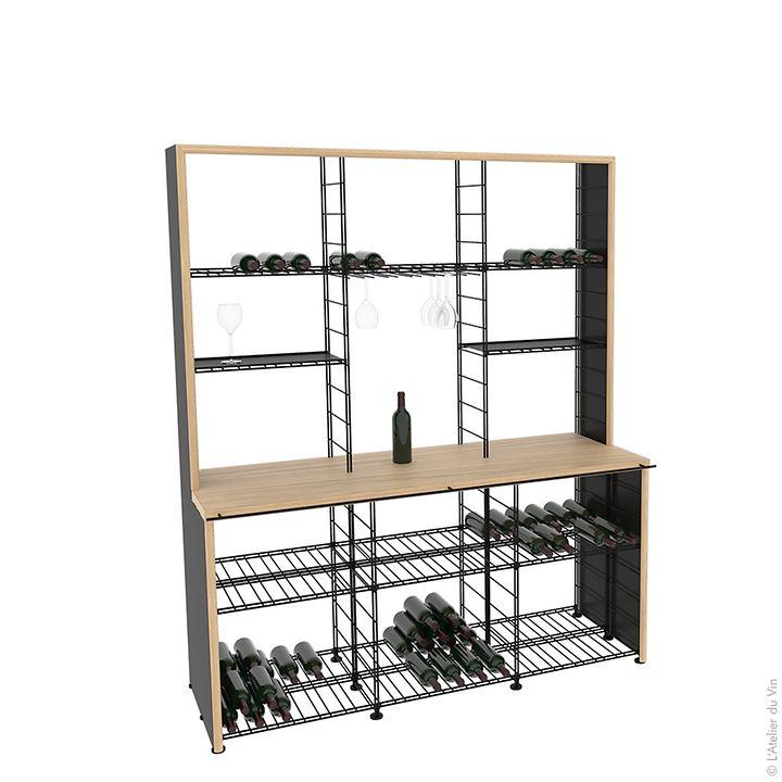 Weinregalsystem CONNAISSEUR, 3 Module
