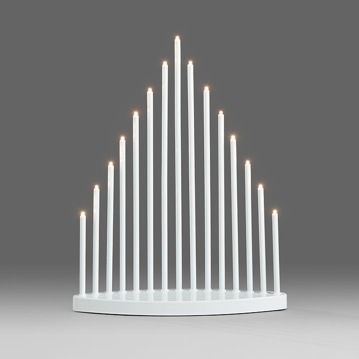 Design-LED-Leuchter Pyramid weiß