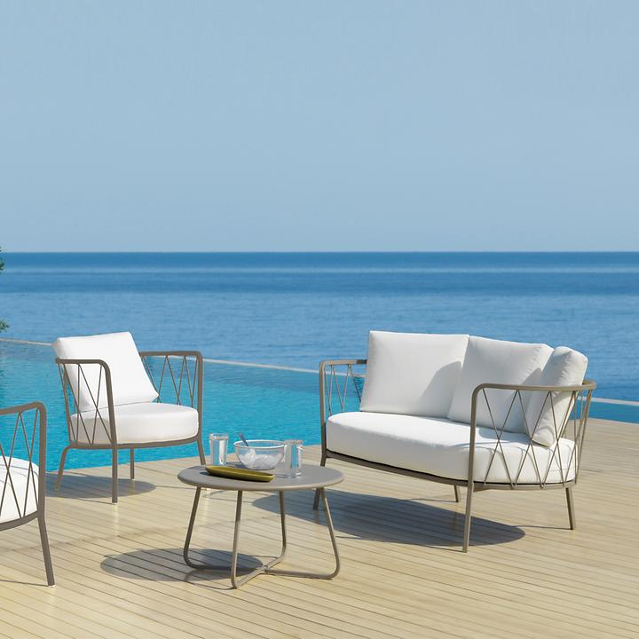 Design-Metall-Loungemöbel verzinkt und pulverbeschichtet