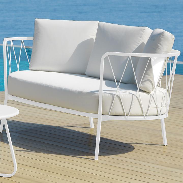 Design Sofa 'Sunderland' weiß
