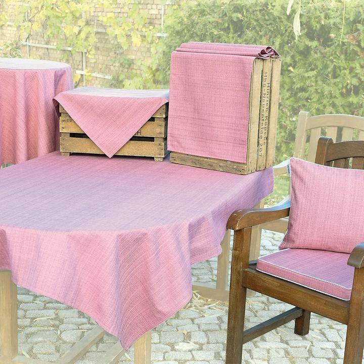Tischwäschen-Serie Outdoor, rosa-meliert