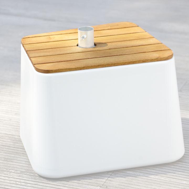 Holz-Abdeckung für Schirm- ständer Fill up