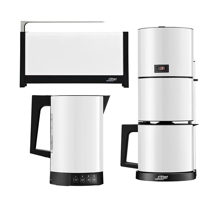Küchen-Serie im Bauhaus-Design, weiß