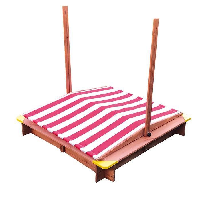 Sandkasten mit Dach rot/weiß höhenverstellbar | Kinderzimmer > Spielzeuge > Sandkästen | Rot