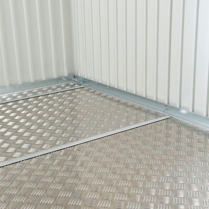 XL-Alu-Bodenplatte Steel