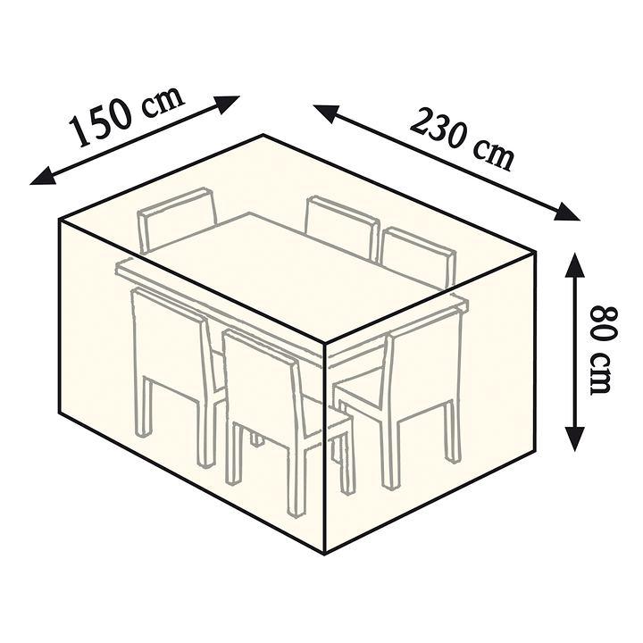 Schutzhaube für kleine Tisch- gruppe, rechteckig