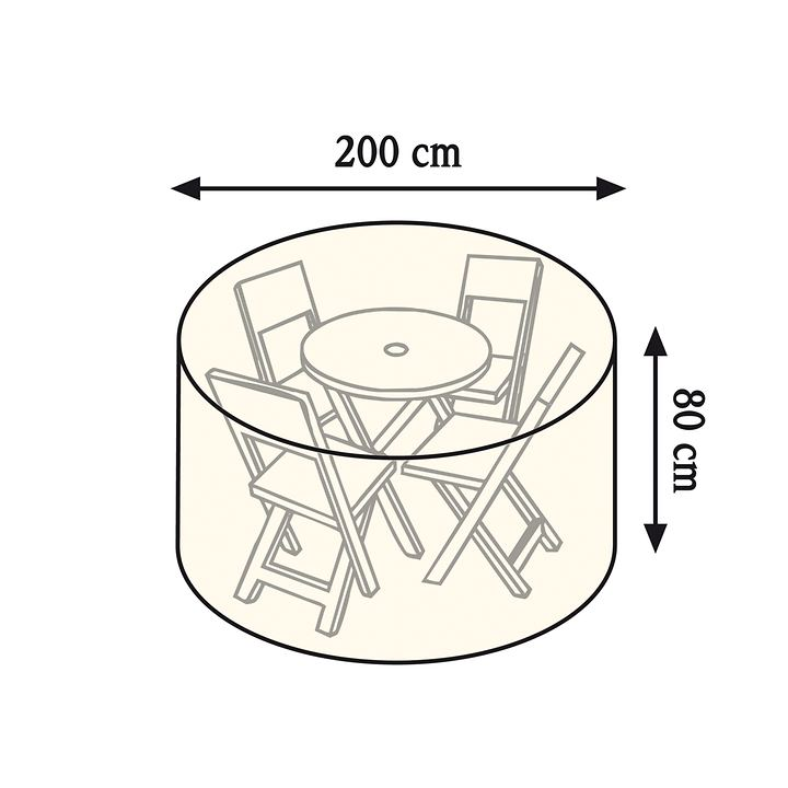 Schutzhaube für kleine Tisch- gruppe, rund