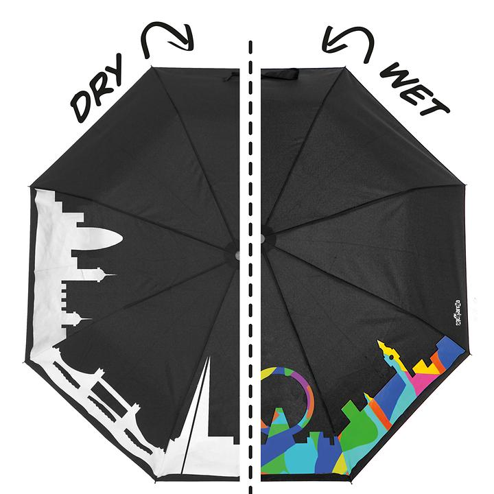 Farbwechsel-Regenschirm London
