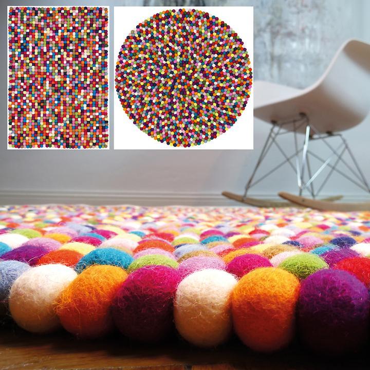 Design Filz-Teppich Lotte