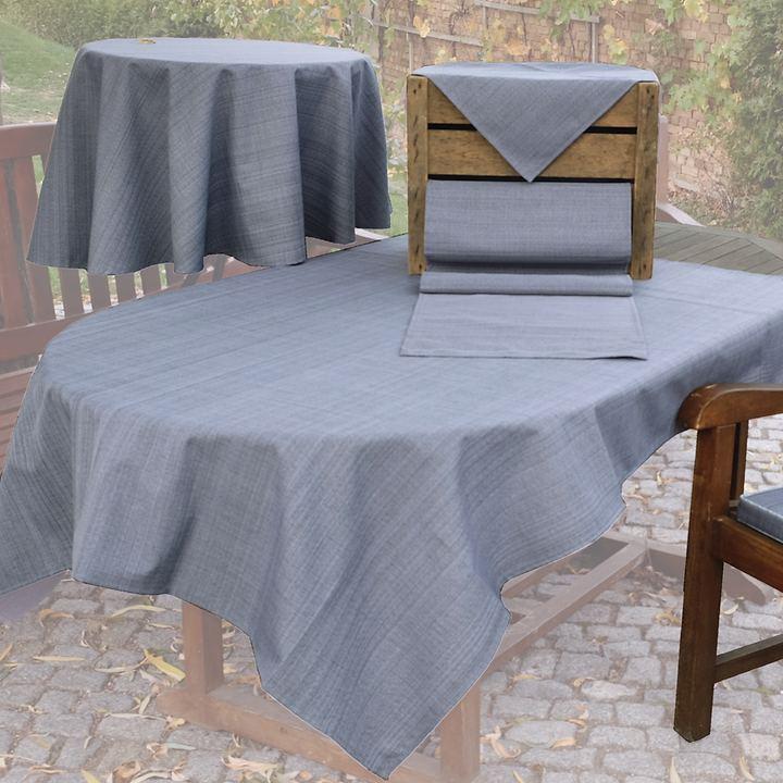 Tischwäsche-Serie Outdoor, grau-meliert