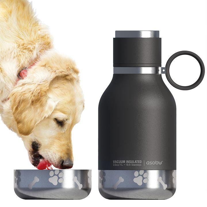 Trinkflasche mit Hundenapf, 975 ml