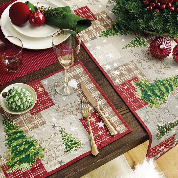 Tischläufer und Platz-Sets mit Weihnachtsmotiven