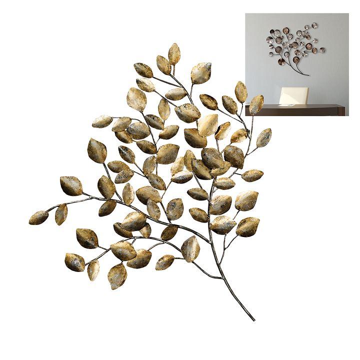 Wandskulpturen Goldener Zweig und Baum
