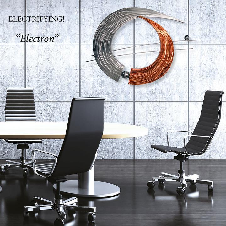 Wandskulptur Electron