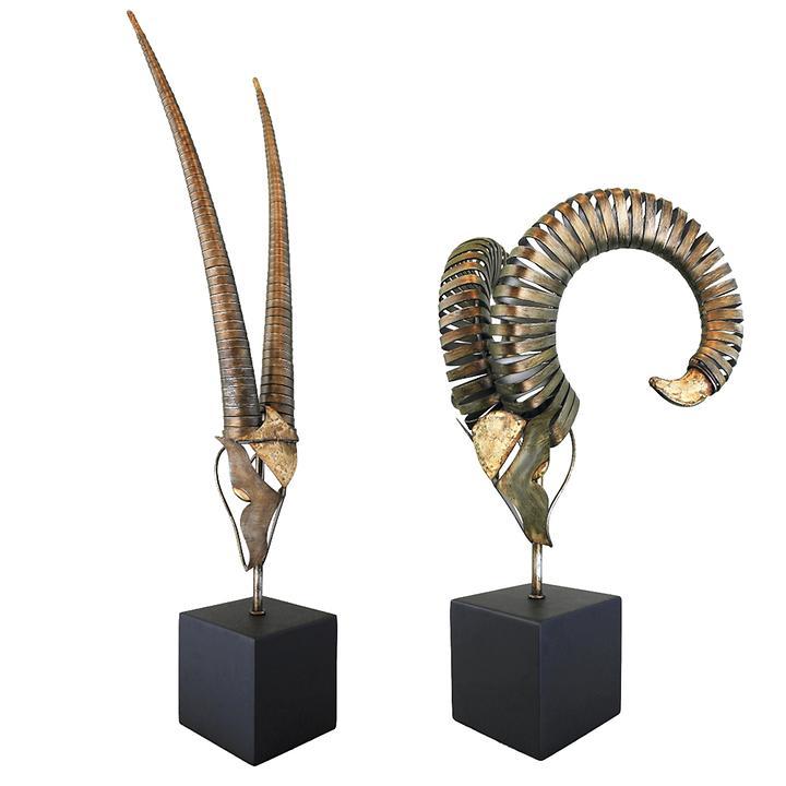 Skulpturen Steinbock & Widder
