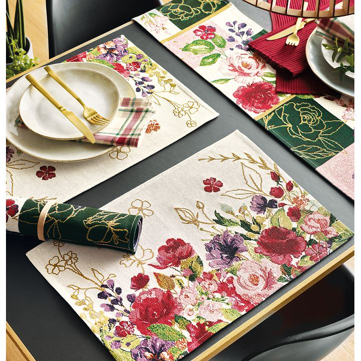 Tischwäsche-Serie Bloom II und Romance Patch II