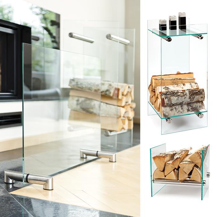 Kaminequipment aus Glas