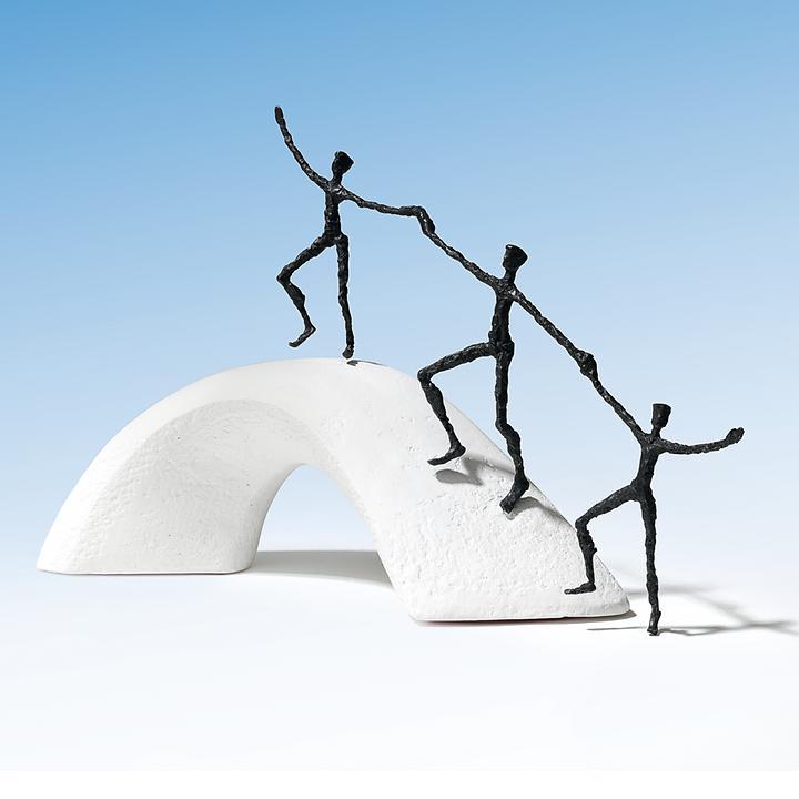 Skulptur Wir bauen Brücken