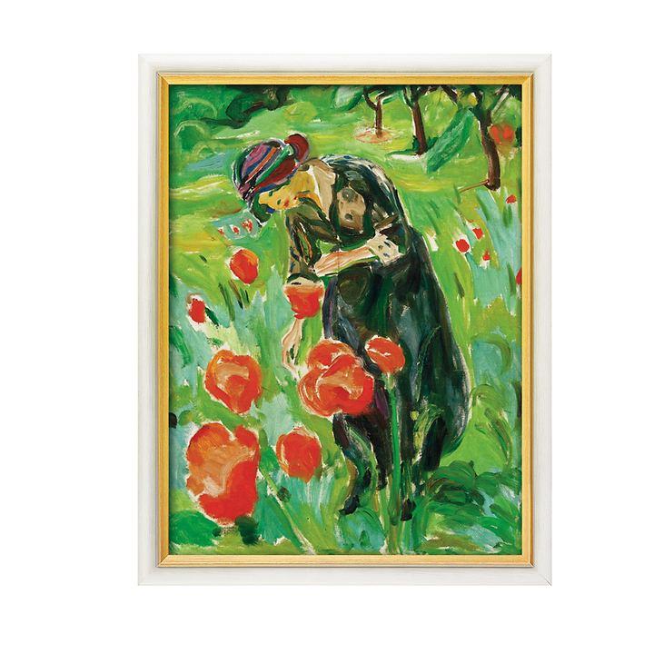 Bild Frau mit Mohnblumen