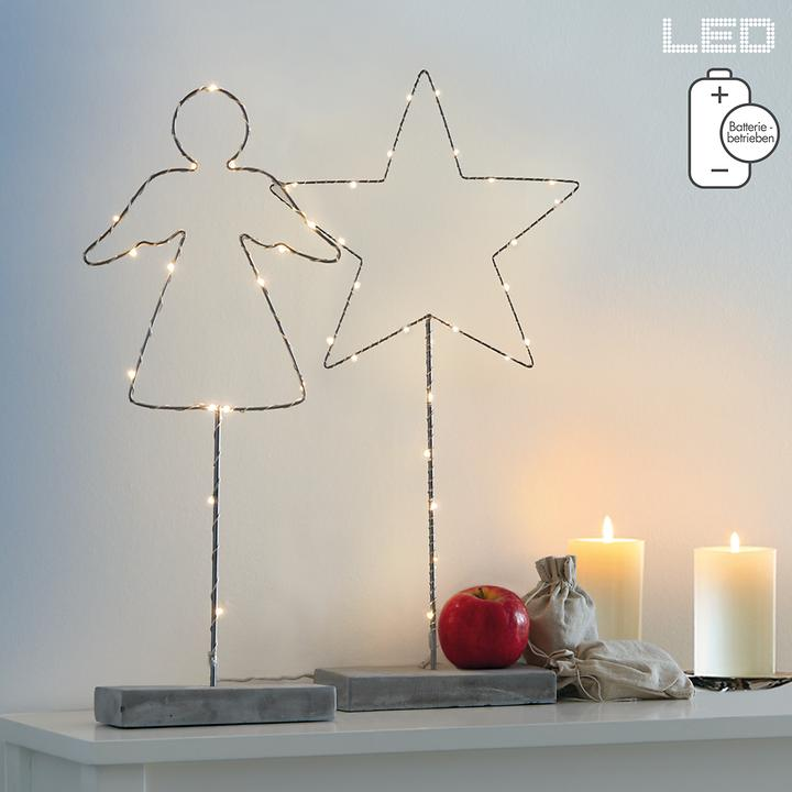 LED-Dekoration Star & Angel