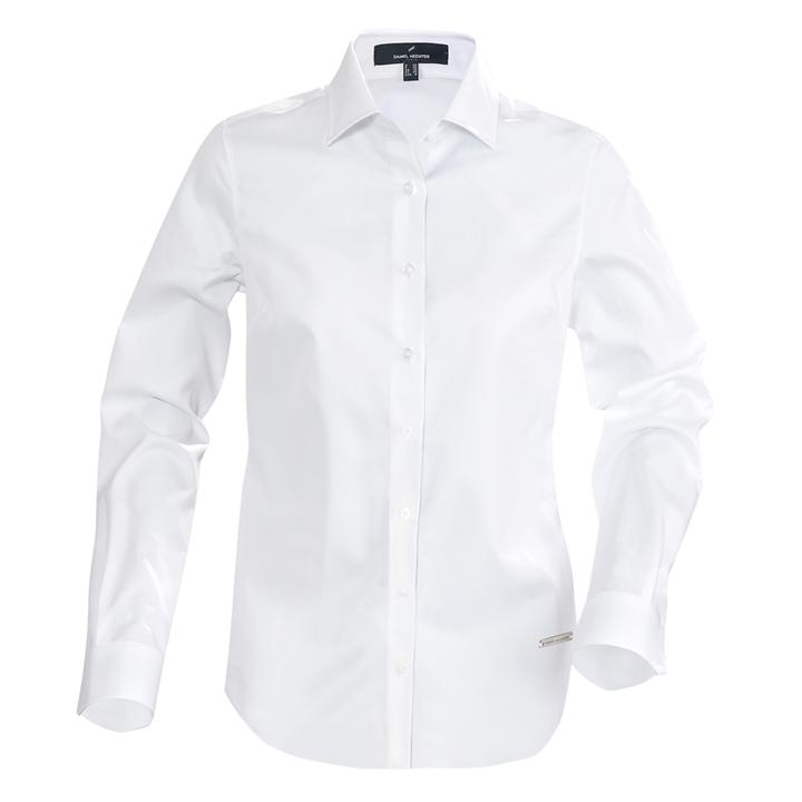 Leicht taillierte Business Bluse mit schmalem Kragen