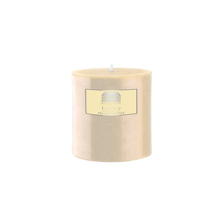 Stumpenkerze creme, H 7,5 cm