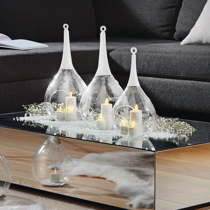 LED-Windlicht- und Kerze Taura