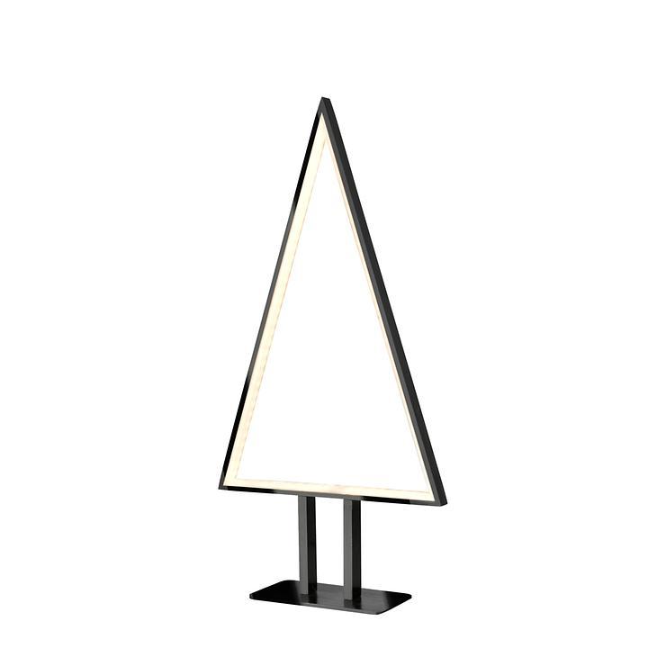 LED-Baum Pine, schwarz eloxiert, klein