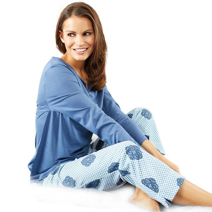 Softer Pyjama aus edlem Baumwoll-Modal-Mix