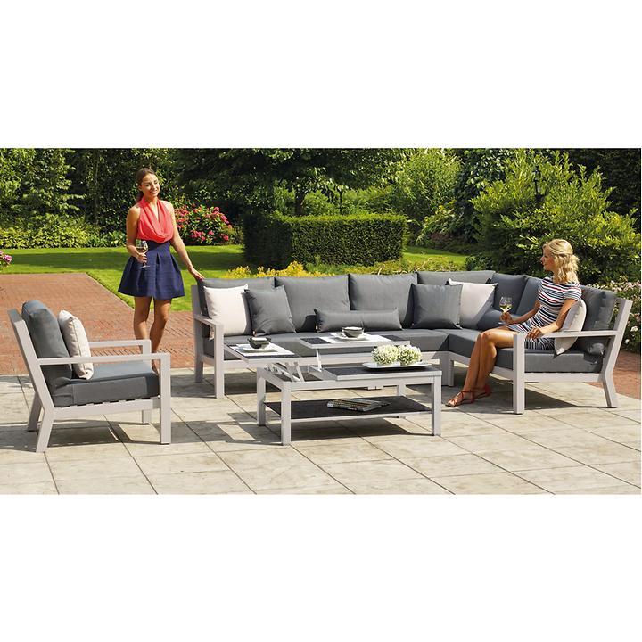 Aluminium Lounge Gartenmöbel Mit Allwetterkissen Promondo