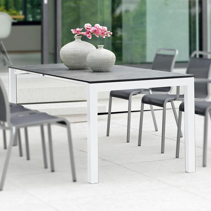 Aluminium Gartenmobel Mit Textilengewebe Stapelbar Promondo