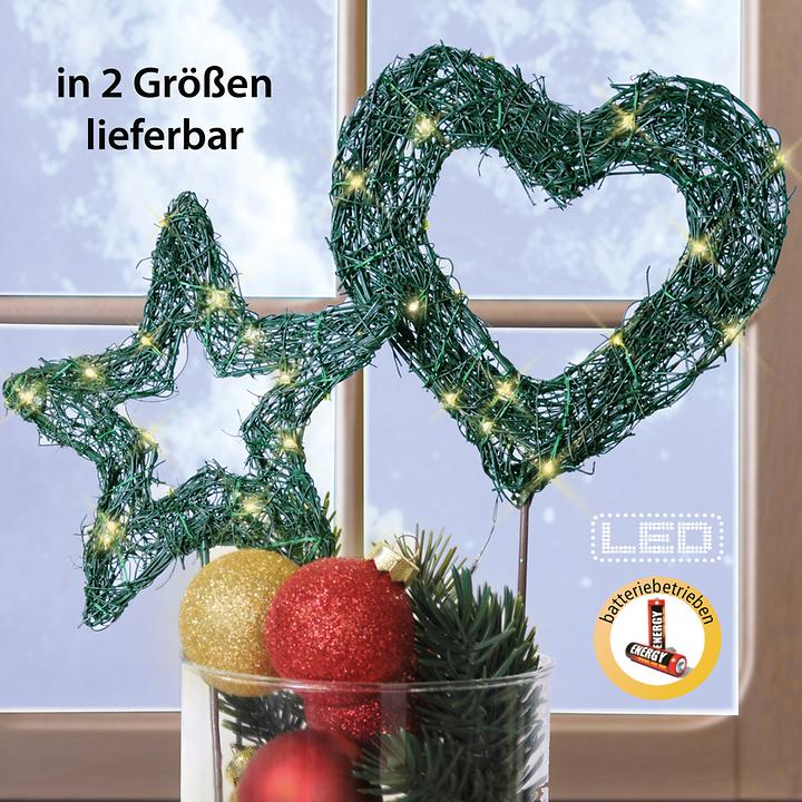 LED-Garden Star & Heart