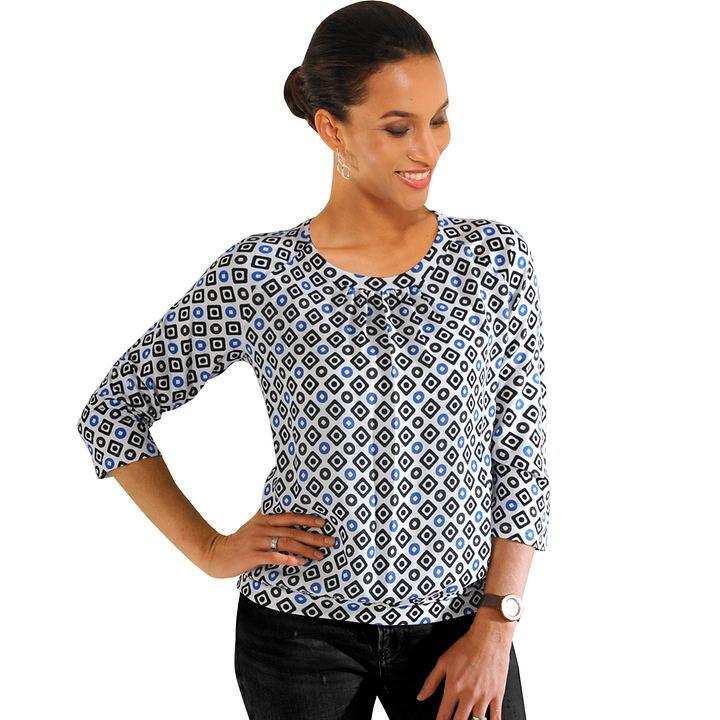 Shirt Helena Blau-Schwarz Gr. 44