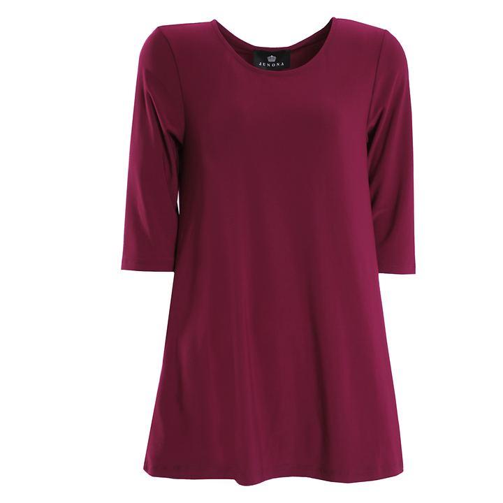 3/4-Arm-Shirt Thea merlot Gr. 44