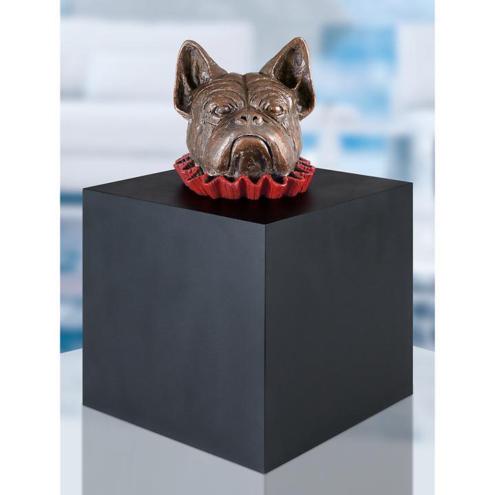 Skulptur Hund im Würfel von Guido Messer
