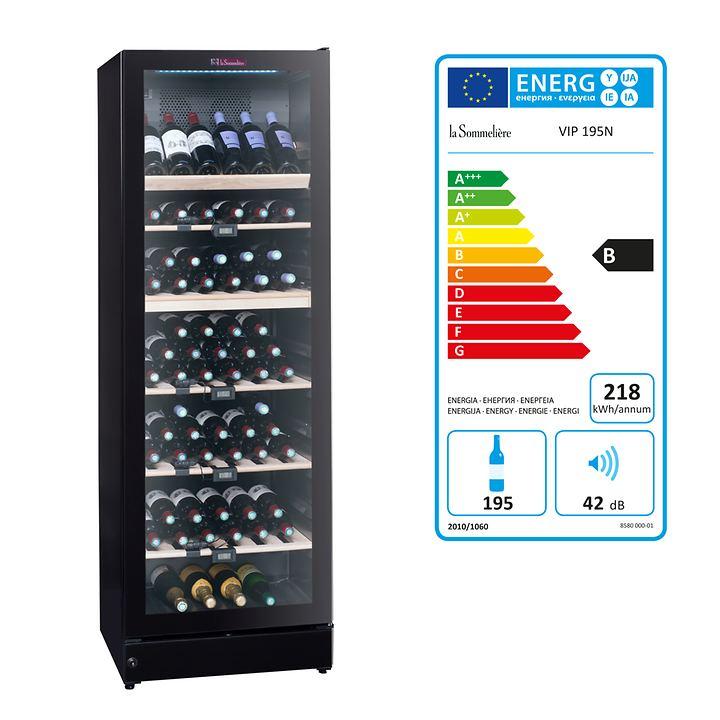 Multizonen-Weinkühlschrank 195 N, schwarz